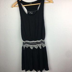 Lucky Brand drop waist Embroidered dress